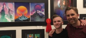 Rioux Wins Silver at Grand Art Show