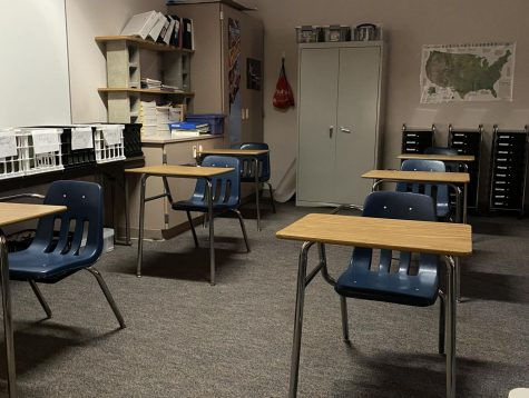 The emptiness of the classroom reflects the emptiness of the students at Grandview